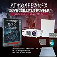 Atmosfearfx Bone Chillers DVD and 3000 Lumen Video Projector Bundle