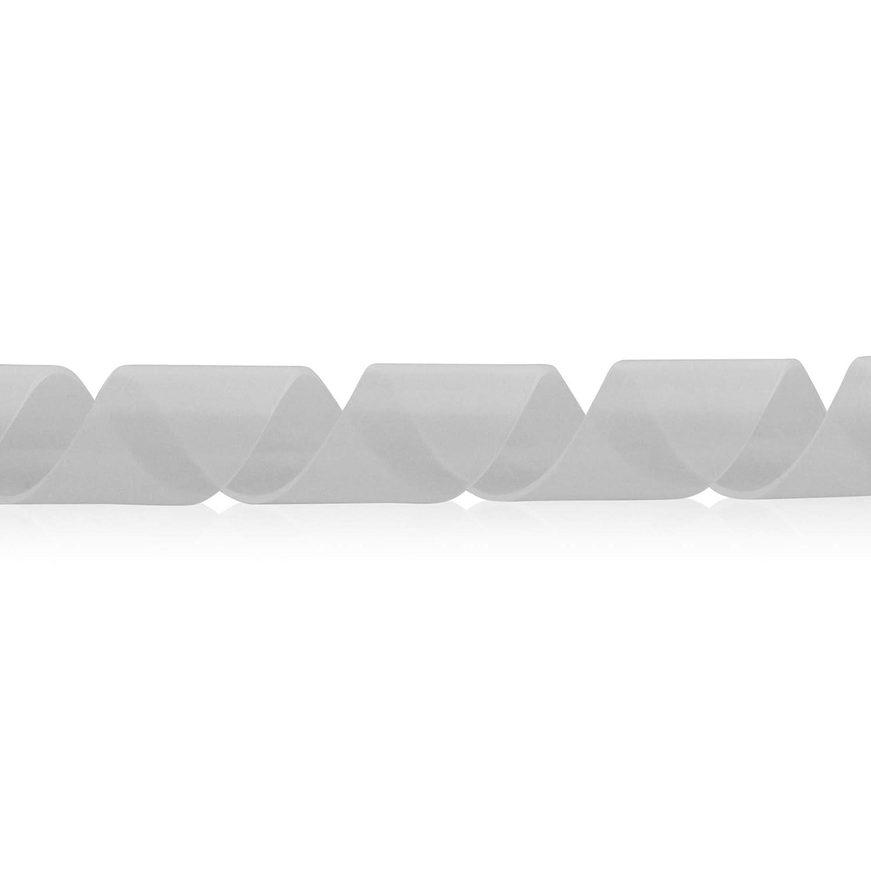 Spiralband Kabelschlauch Kabelschutz 10 Meter Transparent Durchmesser 12,0-70mm