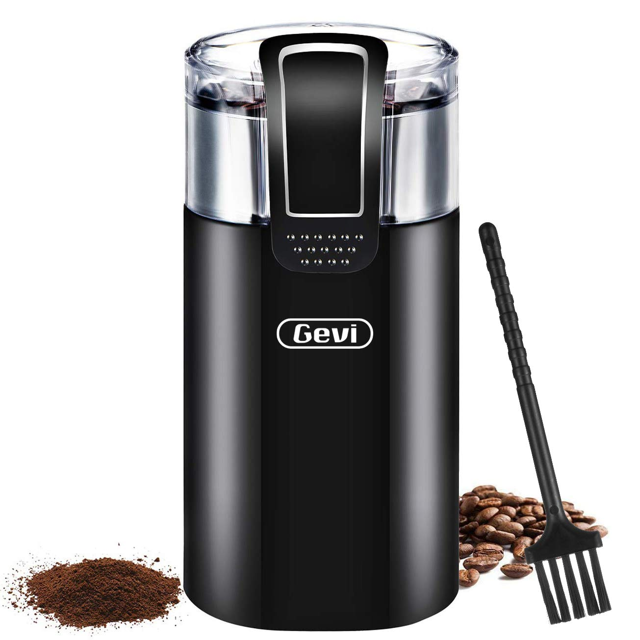 Coffee Grinder Electric Spice Bean Grinding Machine with 120V Powerful Stainless Steel Blade for Dry Spices Nuts, Ground, Grains 8 Cups Large Capacity by ISIYINER
