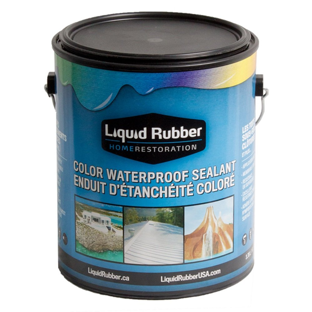 Liquid Rubber Color Waterproof Sealant/Coating (1 Gallon, Medium Brown) - Environmentally Friendly - Water Based - No Solvents, VOC's or Harmful Odors - Easy to Apply - No Mixing - TOP Seller