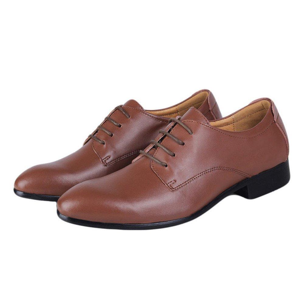 HGDR Business   Herren Dress Business HGDR Schuhe, Spitz Leder Schnürung Derby Oxford Hochzeit Büroarbeit Abendgesellschaft Formale Schuhe Braun e4eb82