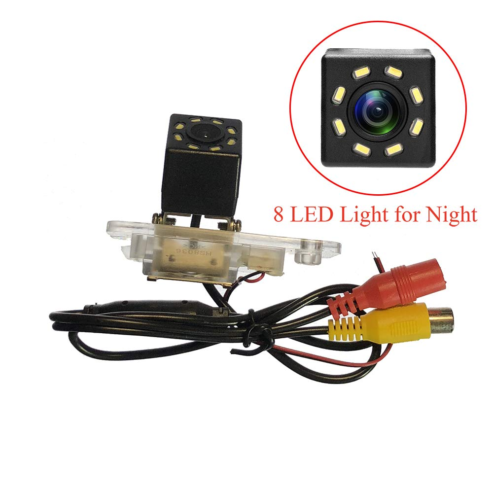 12 LED HD CCD Night /& Adjustable Angle Car Rear View Camera for Audi A3 A4 S4 RS4 A6 C6 S6 RS6 A8 S8 Q7//Q7 DTI /& Vehicle Camera Waterproof and Shockproof Reversing Backup Camera 12 LED iFine