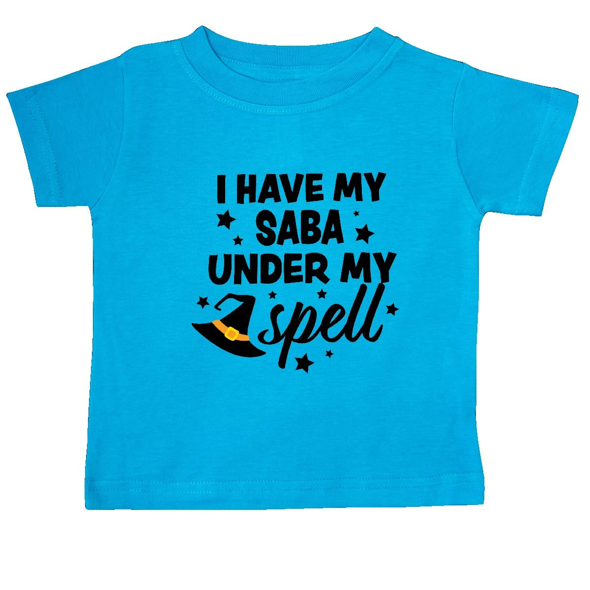 inktastic I Have My Saba Under My Spell with Cute Witch Hat Baby T-Shirt