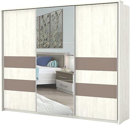 Blanco Armario de puertas correderas 225 x 278 x 64 cm, armario para dormitorio: Amazon.es: Bricolaje y herramientas
