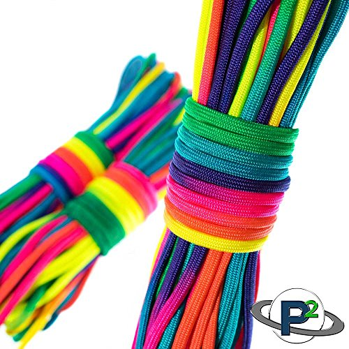 PARACORD PLANET Rainbow Dye Cord 101 Feet by PARACORD PLANET