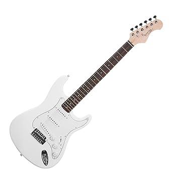 Rocktile Sphere Classic - Guitarra eléctrica, color blanco