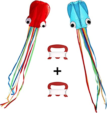 2Pk Colors autiful Large Easy Flyer Kite for Kids software octopus Beach or Park