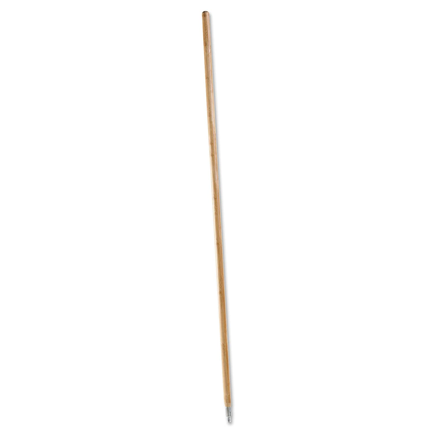 Boardwalk 138 Metal Tip Threaded Hardwood Broom Handle, 1-1/8