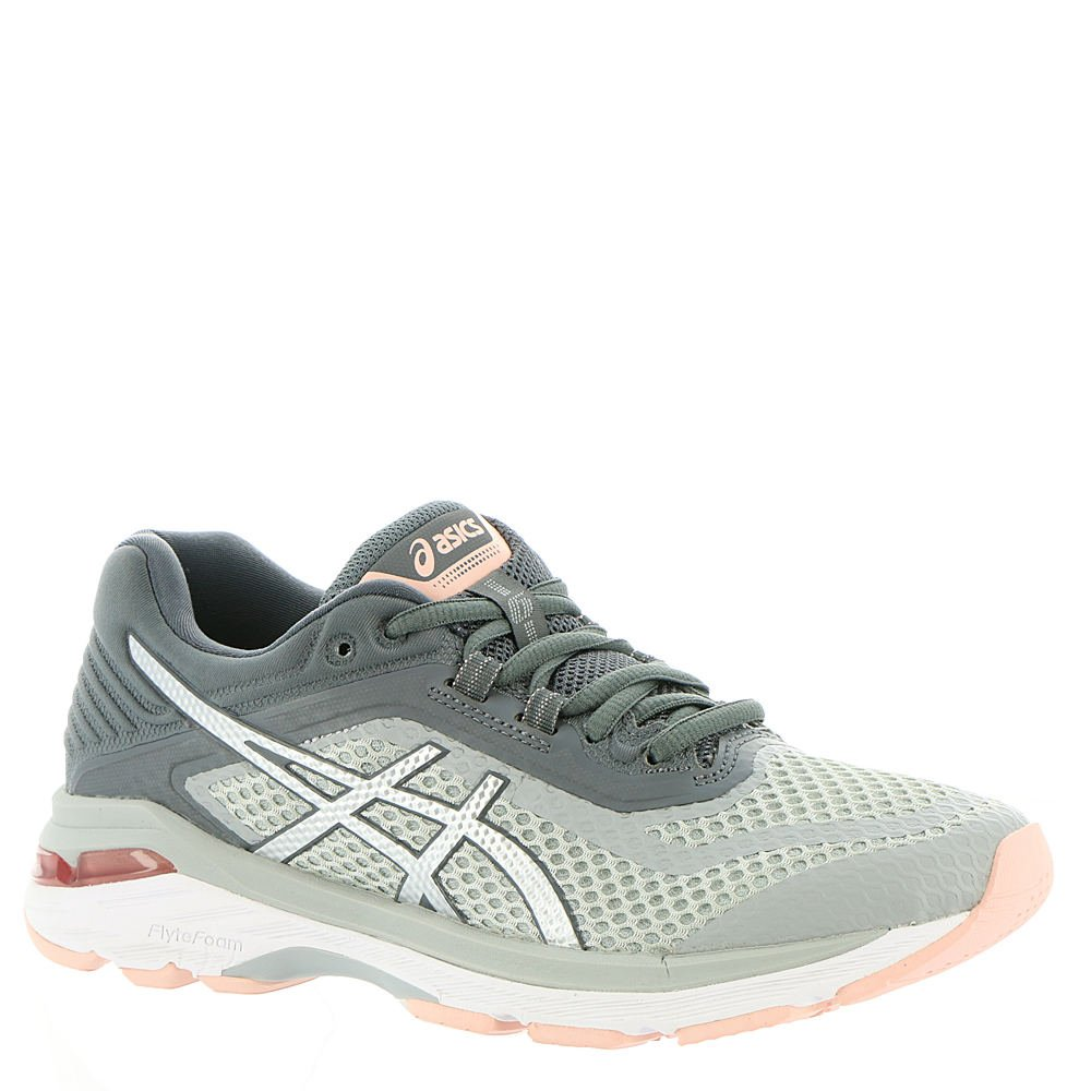 ASICS Women's GT-2000 6 Running Shoes, Mid Grey/Silver/Carbon 8