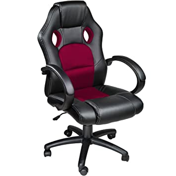 TecTake Silla de escritorio de oficina, Racing - disponible en diferentes colores (Burdeos): Amazon.es: Hogar