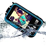 KINGEAR KG0008 Double Screens Waterproof Digital Camera 2.7-Inch Front LCD with 2.7inch Camera--Blue