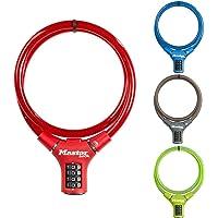 Master Lock 8229EURDPROCOL Combination Bike Cable Lock, 0.9 m Length x 12 mm Diameter, Multicolor