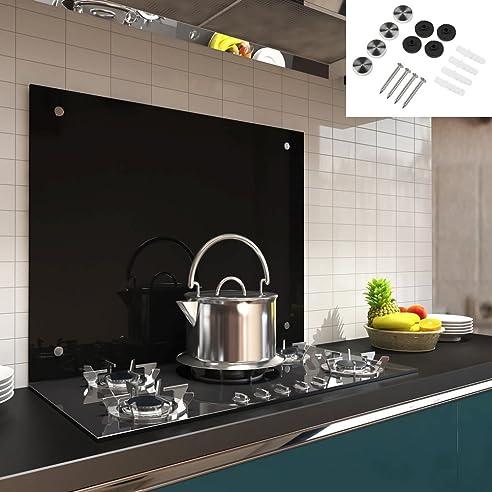 100x60CM Glas Küchenrückwand Spritzschutz ESG Fliesenspiegel Küche ...