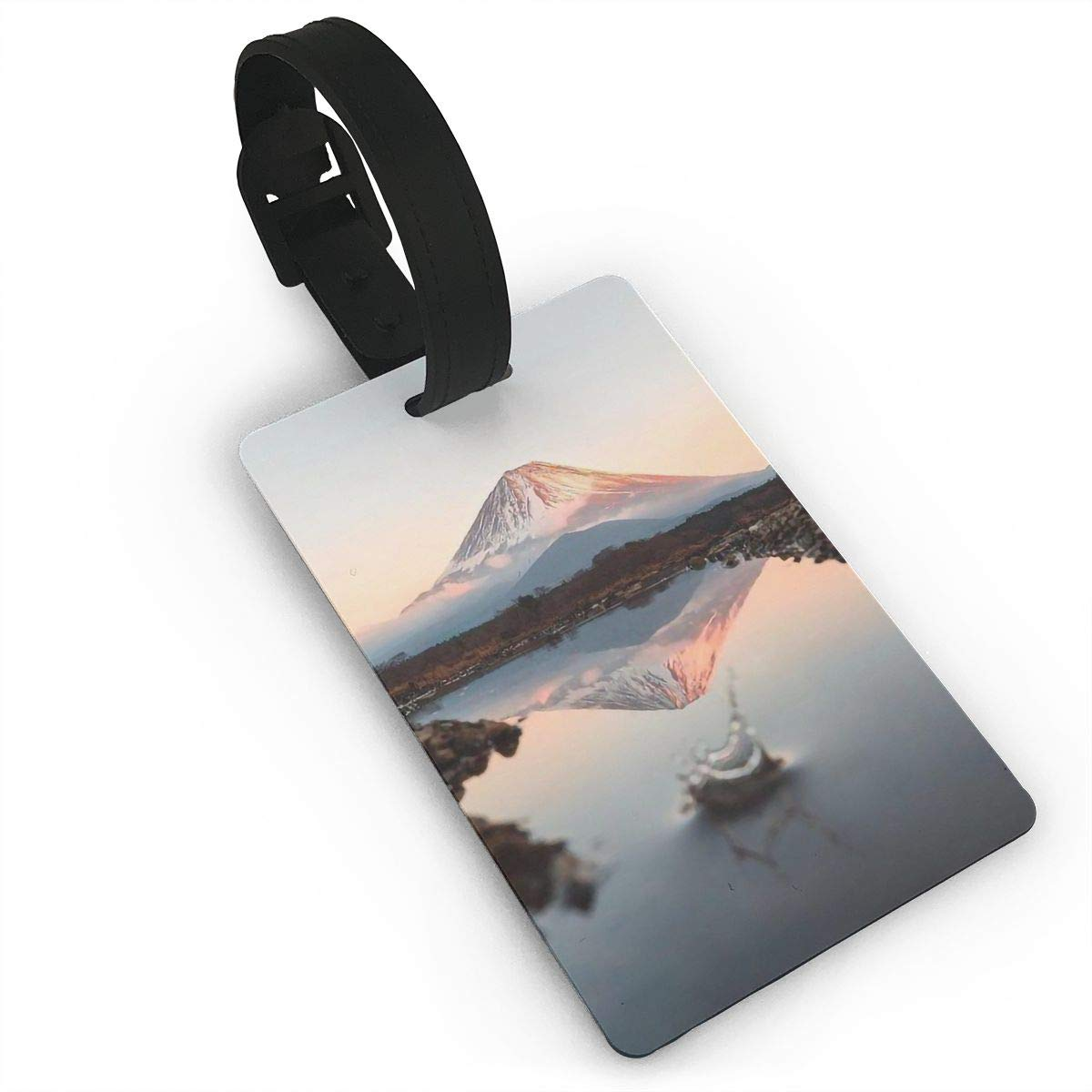 2 Pack Luggage Tags Mount Fuji Travel Tags For Suitcase Bag Accessories