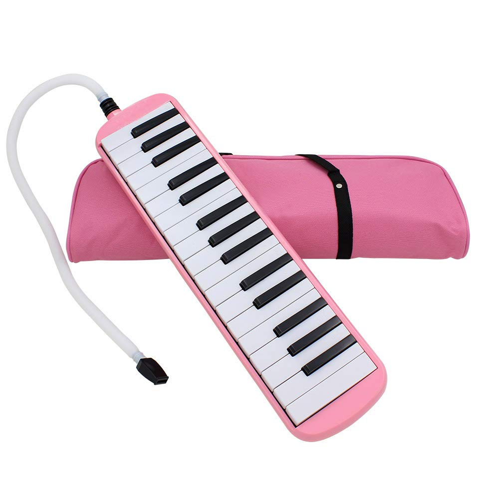 Whryspa 32 Key Melodica/Piano with Bag (ME32) Easy to Control, Suitable for Teaching, Performance, Piano Enlightenment,Pink