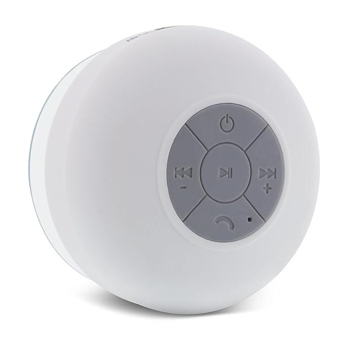 Aduro AquaSound Wsp20 Shower Speaker Portable Waterproof Wireless Bluetooth