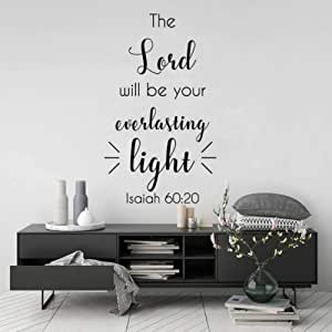 SJXWOL Versículo Bíblico Fe Cristiana Decoración para El