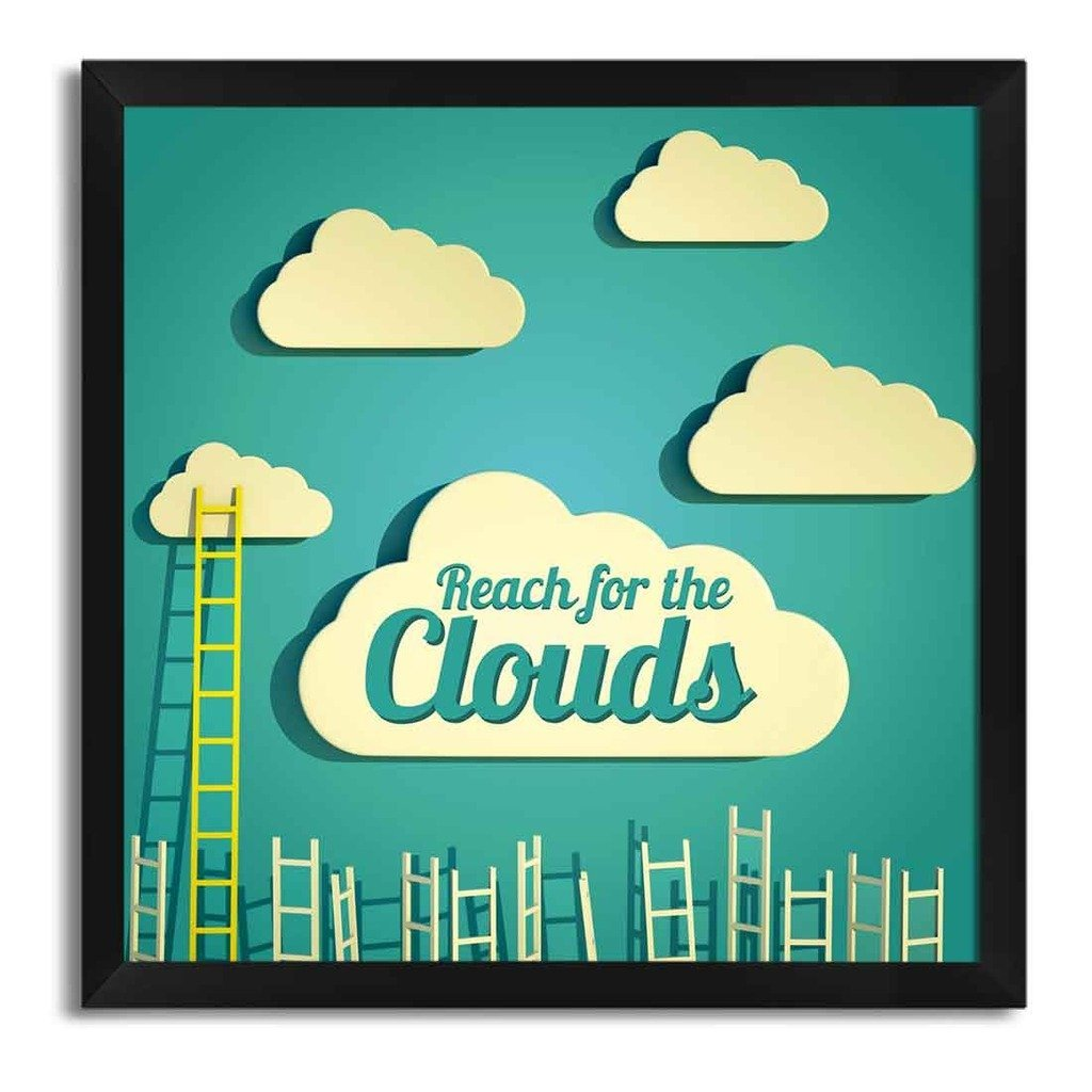Reach For Clouds >> Seven Rays Reach For Clouds Framed With Glass Poster Amazon In
