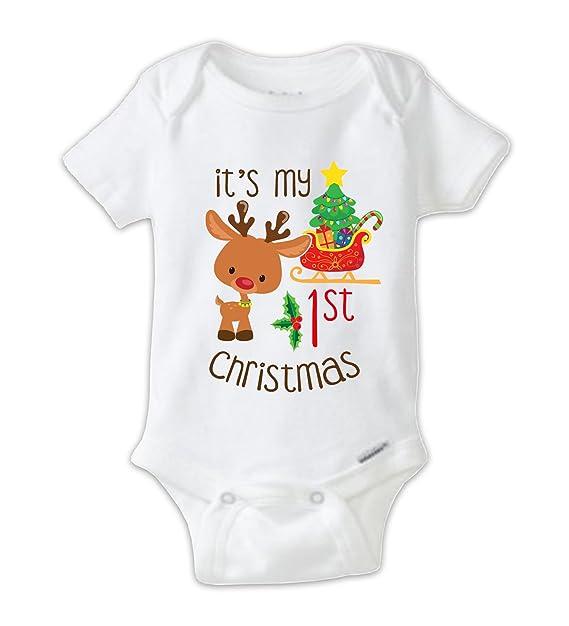 juju apparel my 1st christmas onesie my first christmas baby bodysuit cute reindeer