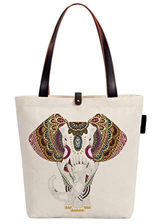 UK Seller Fashion Handbag Aztec Pattern Quirky Bag Print Canvas Shopper