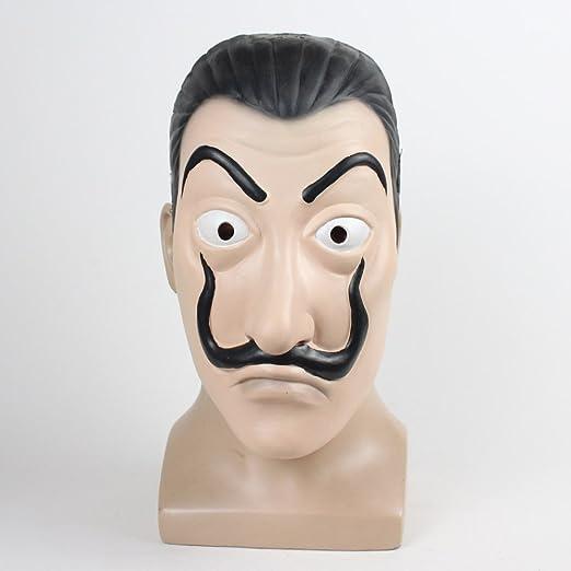 MIMINUO Máscara Dali Mask Máscara de látex Salvador Dali Mascarilla La Casa De Papel Mascara Realistic Prop Mascarilla Novedad Cosplay Disfraz Máscara de ...