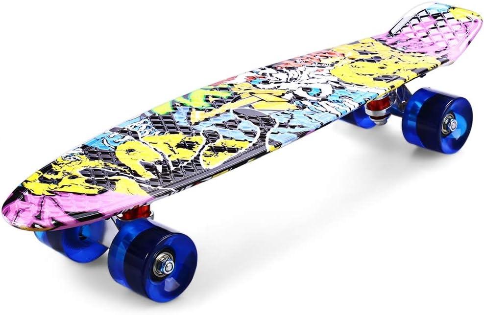 Designed for Teens and Adults 31.5 Inch//Graffito Complete Skateboard Mini Cruiser Longboard Skateboard