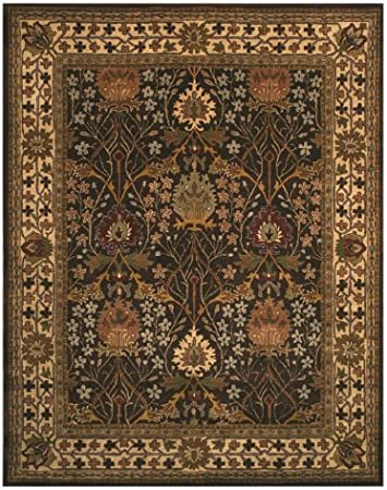 Amazon Com Eorc Brown Hand Tufted Wool Morris Rug 8 9 X 11 9 Furniture Decor