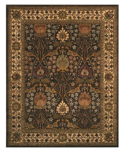 EORC Brown Hand Tufted Wool Morris Rug, 8 9 x 11 9