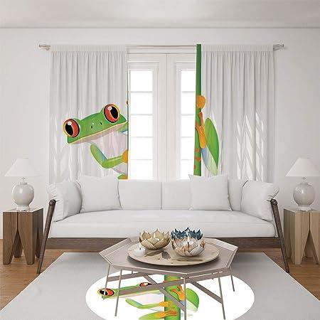 Amazonde 2 Paneel Set Satin Fenster Vorhänge Für Wohnzimmer Und