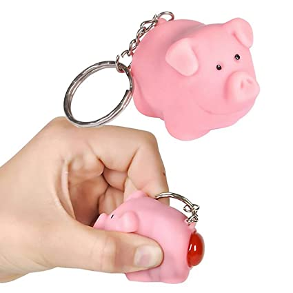 Amazon.com   Ned the Naughty Pig Keychain  Toy  by Lofttus   Key ... 842ac1a337