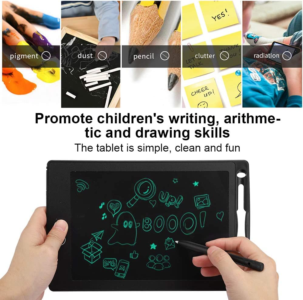 Black 8.5 inch LCD Writing Tablet Electronic Drawing Partially Erasable Tablet Pad Doodle Board Notepad Best Gift for Kids and Adults at School,Home or Office