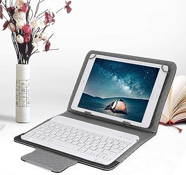ASHATA Funda Protectora Estuche PU Cuero para Tableta/iPad con Teclado Bluetooth,Funda con Soporte Impermeable Universal para Teclado Inalámbrico para Teléfono Móvil de 9.7-10.1 Pulgadas: Amazon.es: Electrónica
