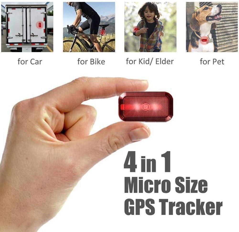 Haodene Mini GPS Tracker, Nuevo T630 Mini localizador en Tiempo Real para Autos/niños/Ancianos/Mascotas/Motocicletas/Bicicletas - En Espera 7 días