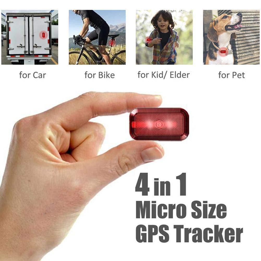 En Espera 7 d/ías Haodene Mini GPS Tracker Nuevo T630 Mini localizador en Tiempo Real para Autos//ni/ños//Ancianos//Mascotas//Motocicletas//Bicicletas