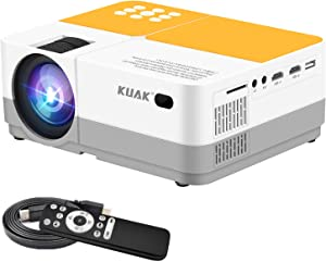 Projector, Mini Portable Movie Projector, 5500 Lux, Native 720P, Full HD 1080p Supported, Home Theater LED Video Projector Compatible with TV Stick/Smart Phone/VGA/AV/USB/2HDMI