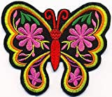 Butterfly insect boho hippie retro love peace embroidered applique iron-on patch new T-38