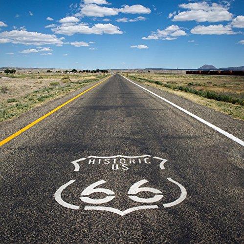 Leyiyi 6x6フィート 写真撮影用背景 ルート66 歴史的 米国旅行 アリゾナ エクスプレスウェイ 日光 デザート ブッシュ カウボーイ トラベラー 写真 ポートレート ビニール スタジオ ビデオ 小道具   B07DTGG2BJ