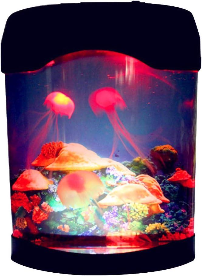 Hehsd0 Pesce Serbatoio Elettrico Ristoranti Artificiale Colore Cambiando B Collegamento LED Illuminazione Medusa Lampada Arredo Casa Notte Camera da Letto Hotel D Mini Acquario