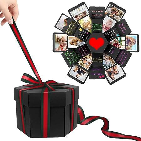 Xmas Wedding Gift Box Explosion Box Surprise Box Creative Photo Album Sticker UK