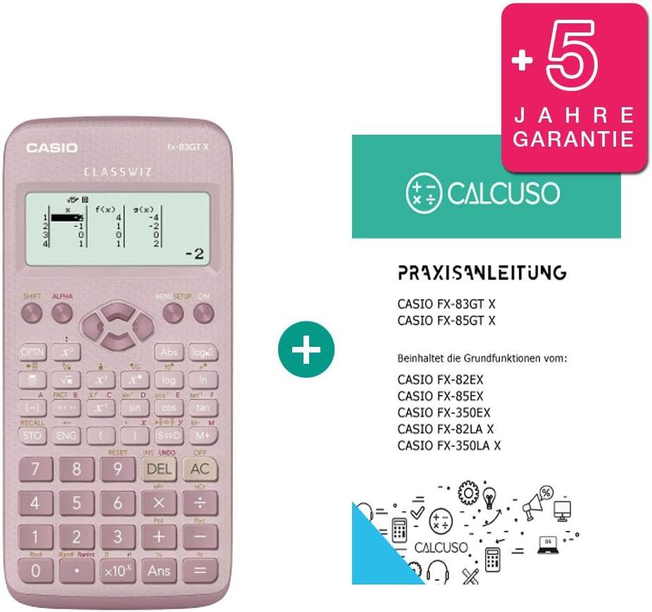 Casio FX-83GTX rosa con guida pratica gratuita e Garanzia estesa
