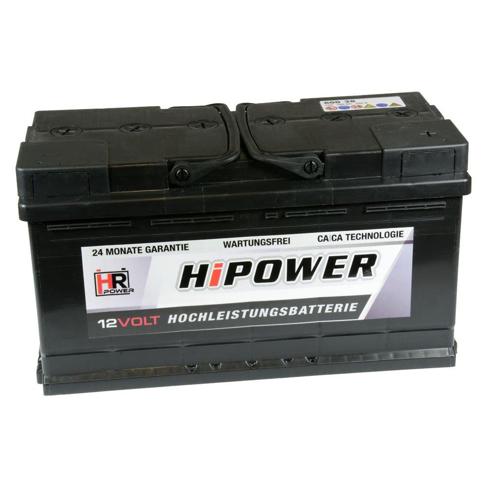 HR HiPower Autobatterie 12V 88Ah 680A//EN Starterbatterie