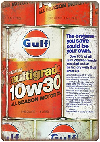 Gulf Multigrade Motor Oil Vintage Ad 10