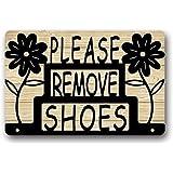 Hi,Doormat Floal Please Remove Your Shoes Sign Custom Indoor/Outdoor Door Mats Rug