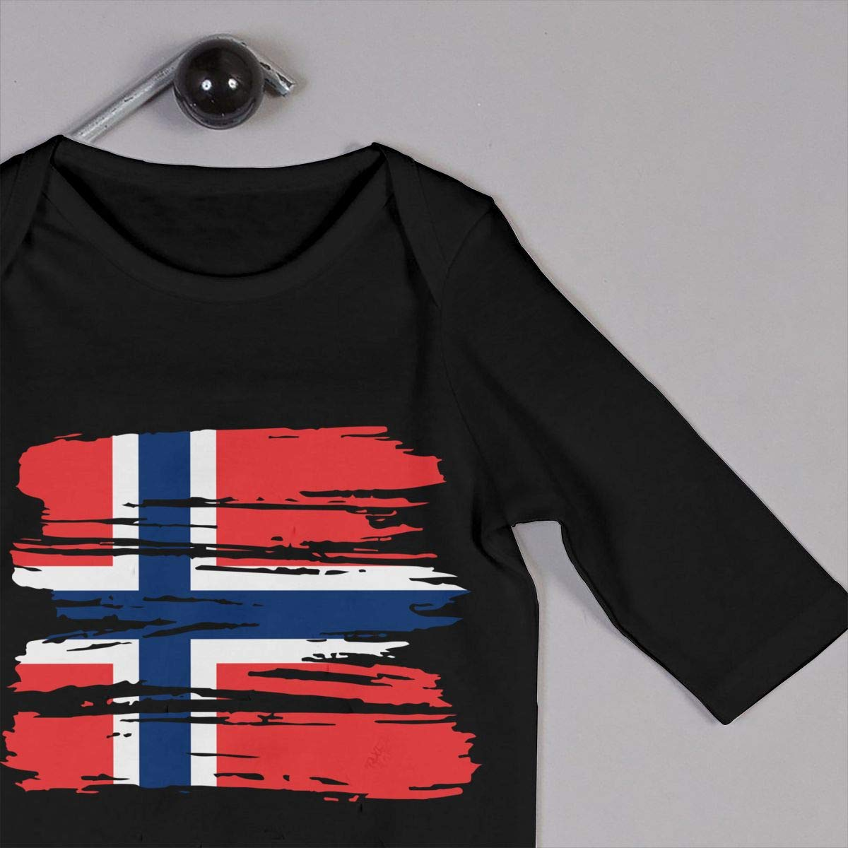 UGFGF-S3 Grunge Norway Flag Baby Girl Long Sleeve Romper Jumpsuit Infant Romper Jumpsuit