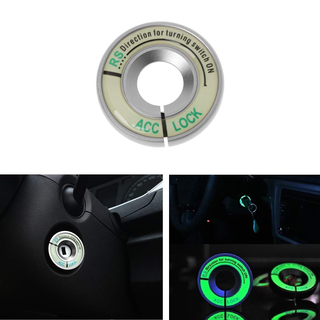 MAZE MA Luminous Ignition Decoration Ring Key Switch Cover Car Accessories