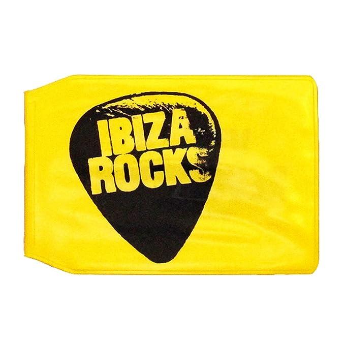 Ibiza Rocks Tarjetero Amarillo de Plastico con Logo ...