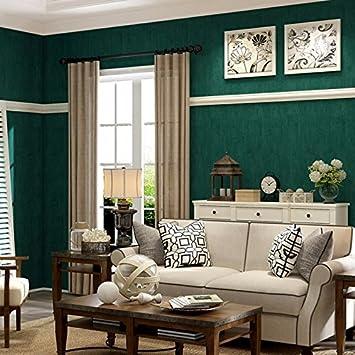 Huangyahuiretro Vieux Papier Peint Vert Emeraude Couleur