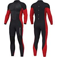 Hevto Wetsuits Men and Women 3mm Neoprene Scuba Diving Full Suits Surfing Glued and Blind Stitched Back Zip for Water…