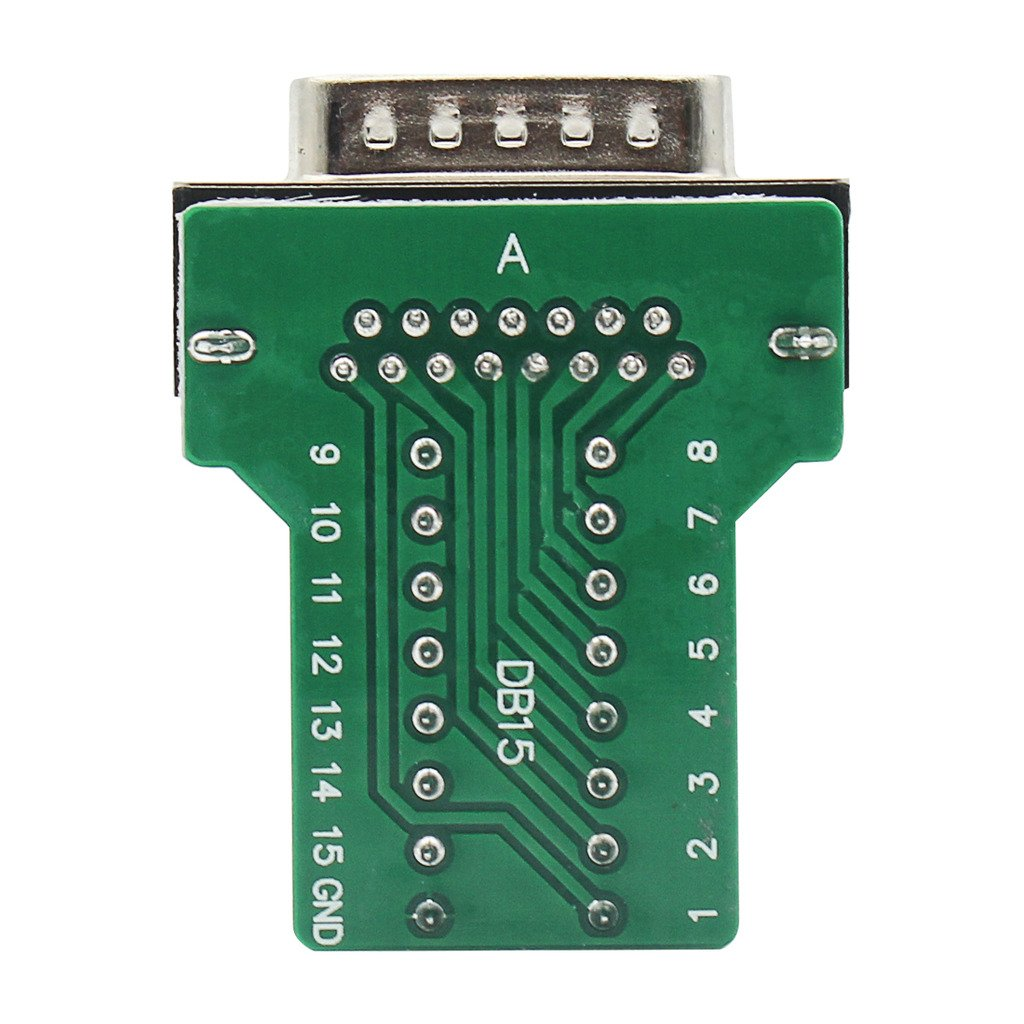 DB15 breakout Connector Female Adapter 15-pin Port Adapter to Terminal Connector Signal Module With case Female Connector,With Nut