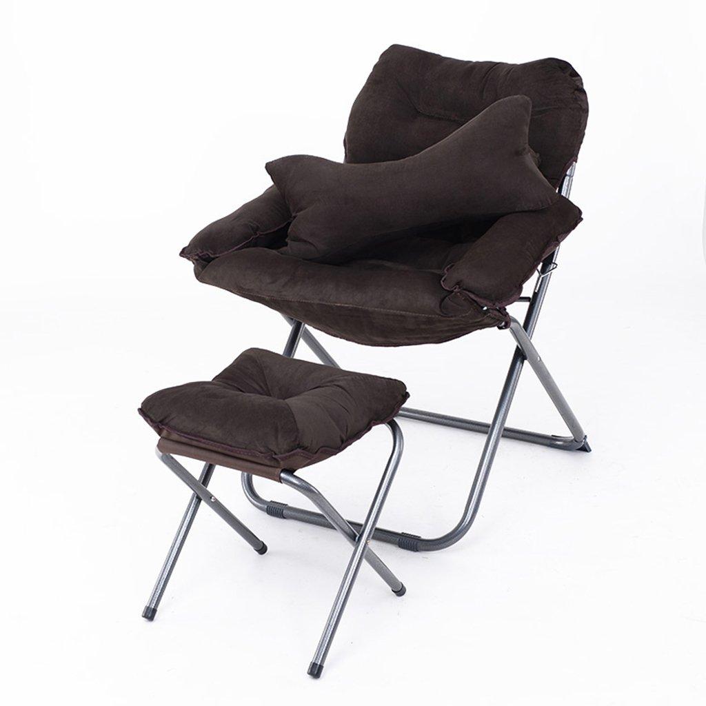 パッド付き怠惰な椅子フットレスト付き調節可能な背もたれキャンプ用釣り折りたたみ式クッションリラックス寝室用椅子居間寮バルコニー Brown (色 : : Brown) B07FNXN96N B07FNXN96N Brown Brown, SAMURAI CRAFT サムライクラフト:5fa28d0b --- jpworks.be